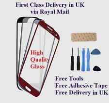 FRONT OUTER SCREEN GLASS LENS REPLACEMENT FOR SAMSUNG GALAXY S3 i9300 FREE TOOLS