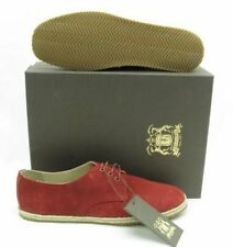NEW $385 TRUSSARDI MENS RED SUEDE OXFORD