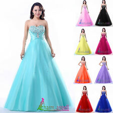 New Strapless Long Prom Dress Formal Evening Party Dresses Ball Gowns in Stock
