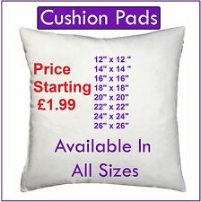 "Hollowfibre Cushion Pads, Inserts, Fillers, Inners 12"" 14"" 16"" 18"" 20"" 22"" 24"""