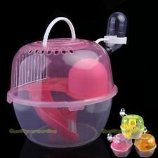 #QZO New 2 Level Clear Plastic Hamster Gerbil Mouse House Cage Playhouse Nest