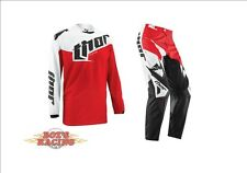 2015 THOR RACING MX PHASE TILT RED JERSEY AND PANT GEAR COMBO JUST RELEASED