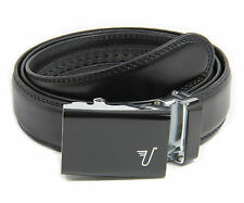 MISSION BELT Adjustable BLACK Ratchet Leather VADER Belt from SHARK TANK