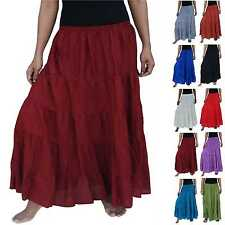 MAXI SKIRT long nice stepped wrinkle big one sizes M L XL XXL 10 12 14 16 18