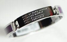 Marc by Marc Jacobs Signature Standard Supply ID Plaque Enamel Bangle Purple
