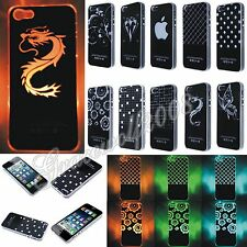 Fashion Calls Flash Up Light LED Case Cover 10 Patterns For iPhone 4 4S 5 5S 5C