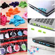 FREE SHIPPING 13Pcs Laptop Computer Dust Plug Headphone Jack Dust Cover Set NEW