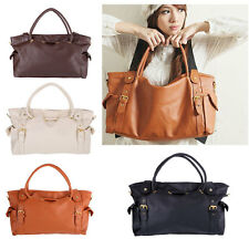 New Women Ladies PU Leather Handbag Shoulder Messenger Bag Tote Satchel Hobo