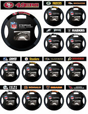 NFL Licensed Team Logo Poly/Suede Mesh Steering Wheel Cover - Pick Your Team!