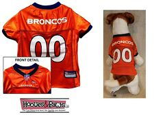 Denver Broncos Pet Dog Football Jersey Shirt Officially Licensed NFL All Sizes