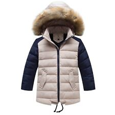 NEW High quality Kids Boys Fur collar Thicken  Down Jacket 5 Color size 3-8Y