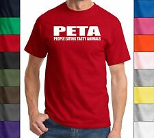 PETA People Eating Tasty Animals Funny T Shirt Adult Humor Gift Unisex Tee Shirt
