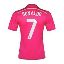 Thai quality 2014-2015 Madrid Soccer Jersey RONALDO JAMES Pink Shirts