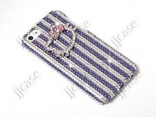 Hello Kitty & Stripe Cell Phone Case with Swarovski Elements for iPhone 5 5S 5C