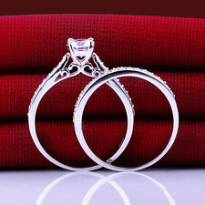1ct CZ Engagement Wedding Bridal Ring Set 925 Sterling Silver Sz. 5 6 7 8 9 10