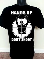 """Hand's Up, Don't Shoot"""" African American T-Shirts.Michael Brown In Ferguson Tees"""