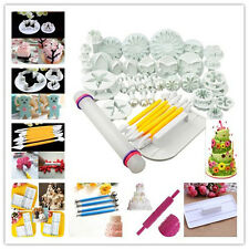14 Sets Sugar craft Cake Decorating Fondant Icing Plunger Cutters Mold Mould New