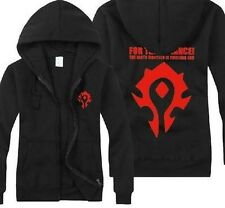 World of Warcraft/Dota Horde Cool Black Cosplay Hoodies Coat/Jacket New 5 Size