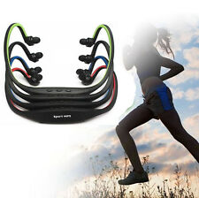 Sport Wireless Headset Headphone Earphone MP3 Player Micro TF SD Slot