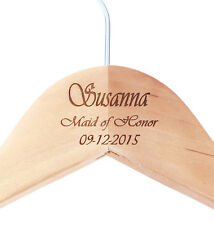 Wedding Party Gift Monogrammed Personalize Maple Wooden Dress Hanger for Bride