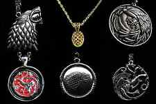 Game of Thrones Necklaces and Key Chains: Stark, Lannister, Targaryen, Baratheon