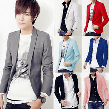 █ █ Mens Luxury Stylish Slim Fit One Button Dress Suit Casual Blazer Coat Jacket