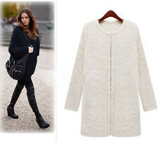 New Fashion Europe Styel Womens Warm Coat Thick Plush Coat Jacket OverCoat M-4XL