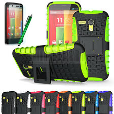 Future Armor Shockproof Rugged Hybrid Impact Hard Built-in Stand Case Cover+Film