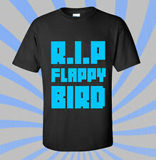 RIP FLAPPY BIRD T-SHIRT - DOPE FRESH GAME PIPES APP TWITTER ADDICTIVE YOLO BLACK