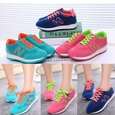 Fashion Breathable Women's Lace up Flats Sneakers Leisure Mesh Gym shoes NX77