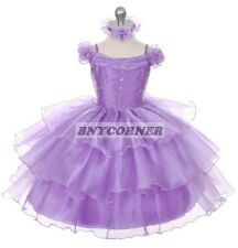 Organza Sequin Flower Girls Dress Wedding Pageant Baby Infant Christmas Holiday