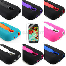 For Samsung Galaxy Light T399 Impact Case Silicone Armor Kickstand+Screen