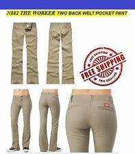 NEW DICKIES GIRLS KHAKI PANTS N882 THE WORKER NWT WITH TAGS WOMENS POCKET