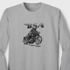 BSA Racing Motorcycles Vintage Bikes Golden Flash Classic Long Sleeve Tee Shirt