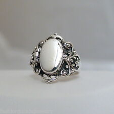 Victorian Scroll Poison Ring - 925 Sterling Silver - Victorian Style Poison Ring