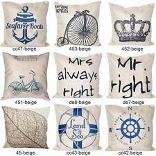"""New 18"""" Vintage Throw Pillow Cases Home Decorative Sofa Cushion Cover Linen"""
