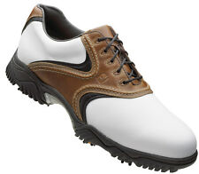 FootJoy Contour Golf Shoes CLOSEOUT Brown/White 54002 Mens New