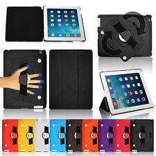 New Hand Strap Leather Wallet Smart Book Stand Case Cover for iPad 4 3 2