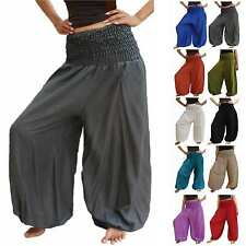 HAREM LONGPANTS Xtra large plus size trouser wide leg cotton blend M - 3XL 16 18