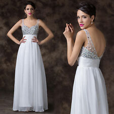 FREE SHIP Glamorous Backless Prom Bridesmaid Cocktail Evening Pageant Long Dress