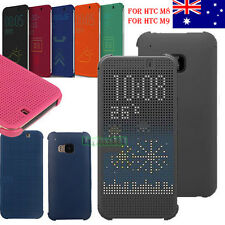 2015 NEWEST Dot View Retro Flip Smart Cover Case For HTC One M8 HTC ONE M9 AU
