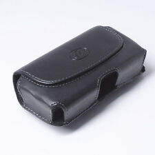 Leather Holster Carrying Case Pouch Holster Clip with Belt Loops for Cell Phones