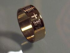 Gold - Lord's Prayer Ring - Stainless Steel - 8 mm - Unisex