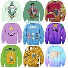 WOMEN SWEATSHIRT ADVENTURE TIME SWEATER FUNNY JUMPER HIPSTER / SUDADERA