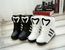 women sport shoes inside highten Stripes ankle boots casual shoes