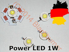 1W Power LED Hochleistung LED,90-100 lm,3000-6500K,Löt-Stern,kaltweiss warmweiss