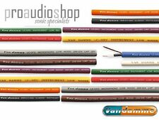 Van damme Pro Grade XKE Instrument / Guitar Cable CHOOSE YOUR COLOUR (per metre)