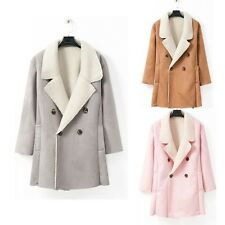 Fashion Warm Winter New Women Suede Long Coats Jackets Outwear Overcoat Parka