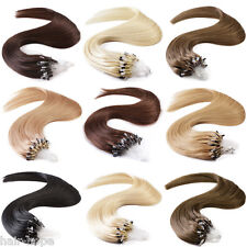 18Inch Loop Micro Ring Beads Tip Brazilian Remy Human Hair Extensions 100Strands