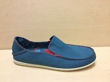 NEW - Olukai Womens Nohea Canvas Slip On Shoes - Ocean Depth/Deep Guava - 20192